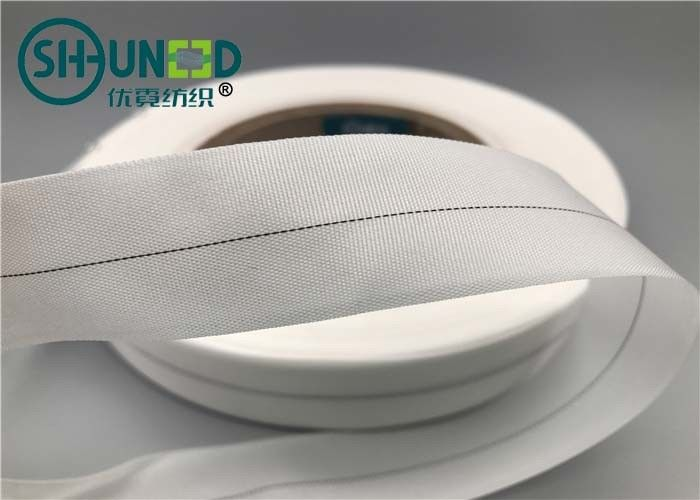 White Woven Garments Accessories Nylon Wrapping Tape With Coating