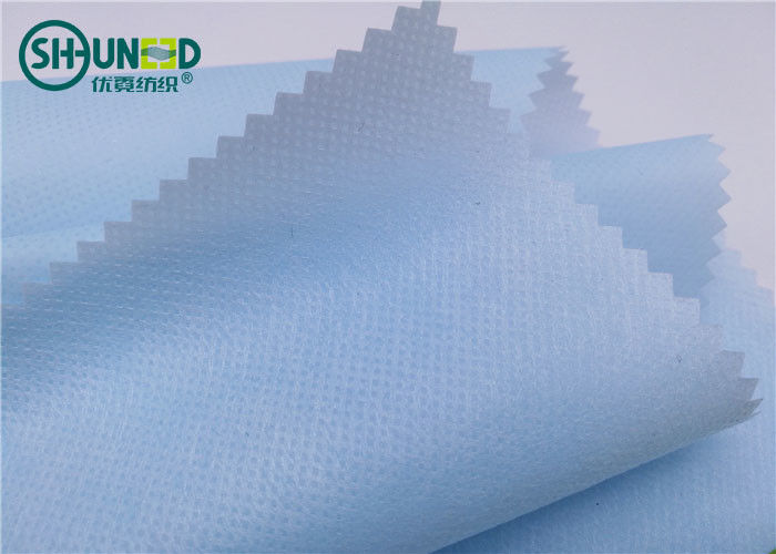 Blue Color Polypropylene PP Spunbond Non Woven Fabric With PE Film Laminated For Medical Bed Sheets