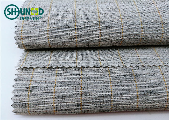 Polyester Mixed Horsehair Interlining Canvas Hair Lining For Men Uniform Suits