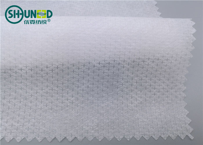 100% Nylon Nonwoven Long Fiber Spunbond Non Woven Fabric Rolls 50gsm Customized Pattern for Shoes Garment