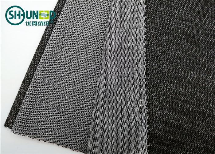 55% Polyester 45% Viscose 140gsm Brushed Warp Knit Interlining Woven Fusible Interlining PA / PES Textile for Suits